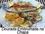 Dourada embrulhada na chapa-Menu copy