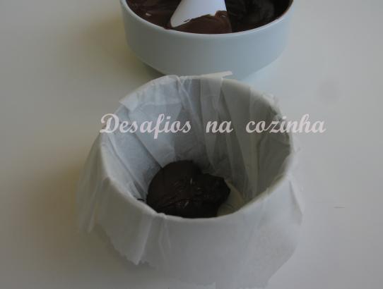 chocolate na forma