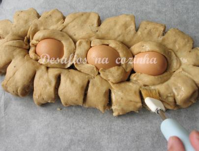 pincelar com ovo