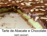 Tarte de abacate e chocolate menu